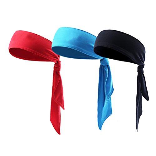 Scheda Winomo 3pcs sport fasce dri-fit head ties mens sweatbands tennis tie  hairba 6239197d3df2