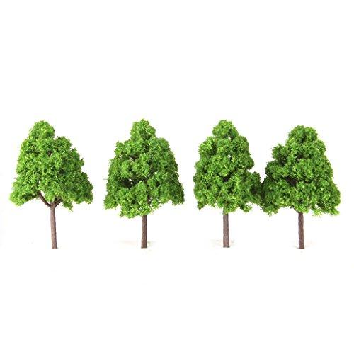sharprepublic 20 Stücke Modellierung Bäume N Spur Modell Eisenbahn Layout Zug Landschaft 9,5 cm (Modellierung Von Bäumen)