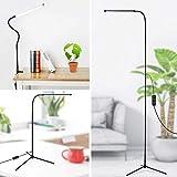 LED-Bodenbelag, 3-in-1 Dimmable Standing Lampenschaufer-Schreibtisch-Lampe mit C-Clamp und Stativ-Basise-Eye-Care-Energieriegel mit Flexible Gooseneck für Schlafzimmer-Wohnzimmer-Studie.