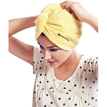 Dholakiya D1 Absorbent Microfiber Fabric Hair Drying Quick Dry Shower Cap Towel