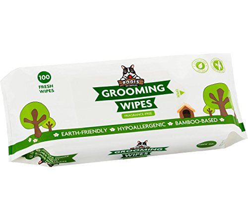 Pogis-Grooming-Wipes-100-Deodorising-Wipes-for-Dogs-Cats-Biodegradable-Hypoallergenic-Fragrance-Free-All-Natural-Pet-Wipes