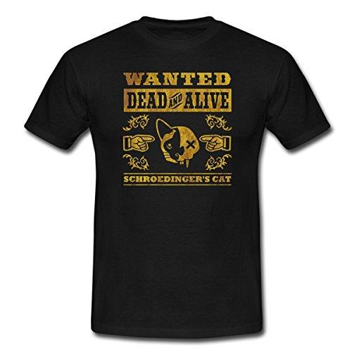 Spreadshirt Schrödingers Katze - Schroedinger's Cat Männer T-Shirt, S, Schwarz (S/s T-shirt Cat)