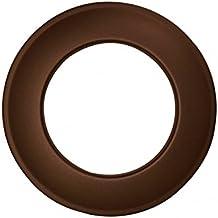 Kamino - Flam – Rosetón para tubo de chimenea (Ø 120 mm), Rosetón anillo para tubos de estufa, Rosetón conector para sistema de chimeneas, estufas, ventilaciones – acero resitente y durable - marrón