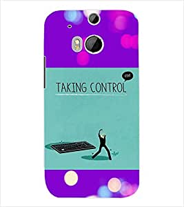 ColourCraft Quotes Back Case Cover for HTC ONE M8