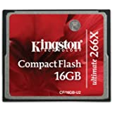 Kingston 266X 16 GB Compact Flash Card - Red/Black
