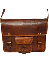 Anshika International Original Leather Sling Bag For Boys & Girls - Brown