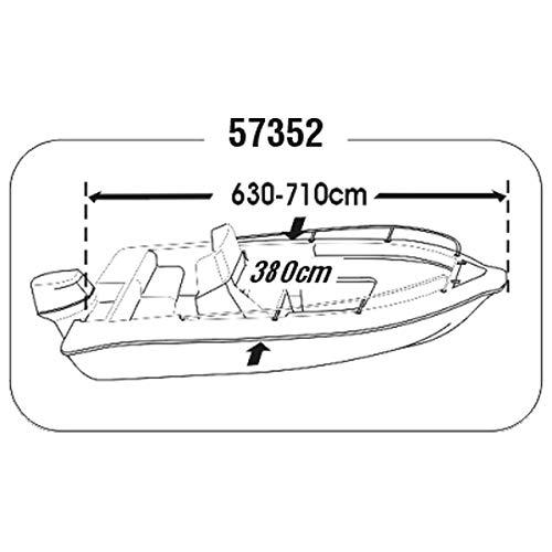 Persenning Motorboote div Größen Plane Schutzhülle Boat Cover, Größe:7