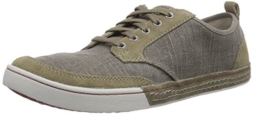 Clarks Slaten Edge, Baskets Basses homme Vert - Grün (Olive Canvas)