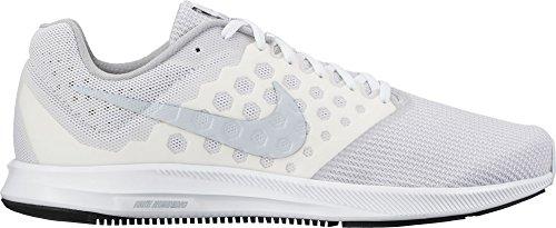 Nike Downshifter 7, Zapatillas de Running para Hombre, Blanco (White/Pure Platinum), 40 EU