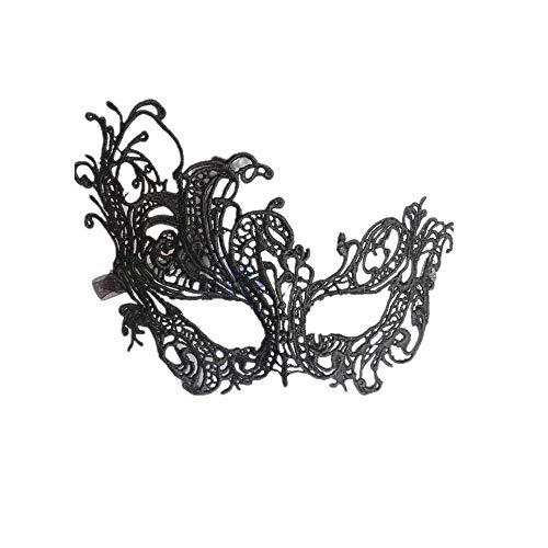 Schwarz,Fellibay Masken Damen Karneval Venezianische Masken Damen Lace Masquerade Masks Damen Maskenspiel ()