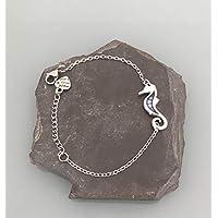 Bracciale donna gourmette cavalluccio marino in argento, bracciale donna, idea regalo, gioielli regali, gioiello cavalluccio marino, bracciale donna argento