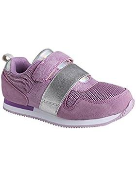 VERTBAUDET Zapatillas deportivas niña estilo running con tiras autoadherentes VIOLETA CLARO LISO 27