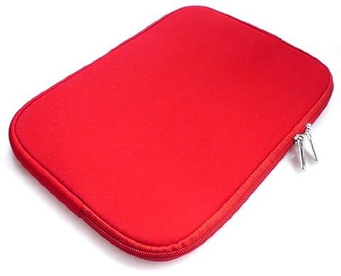 Emartbuy® Trekstor SurfTab Duo W1 LTE / Wi-Fi Volks Tablet 10.1 Zoll Rot Wasserdicht Neopren weicher Reißverschluss Kasten Hülsen Abdeckungs ( 10-11 Zoll eReader / Tablet / Netbook )