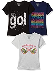 CHEROKEE Girls' Regular Fit T-Shirt (Pack of 3)