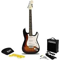 Rockjam Pleine Taille Guitare Électrique Superkit avec le Sac de Guitare Sangle de Guitare Amplificateur de Guitare et Câble de Guitare de Sunburst