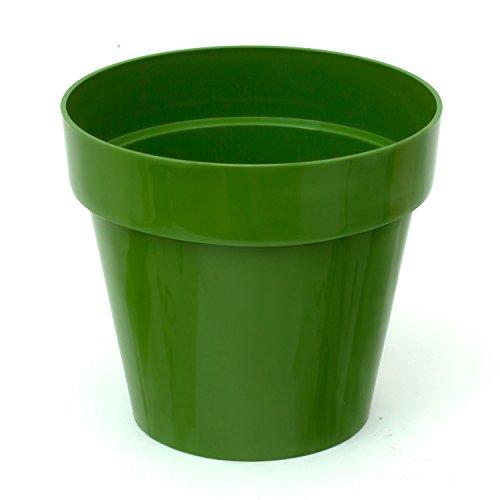 Pot de fleur Cube Shine 2.2 Lt, en vert d'olive