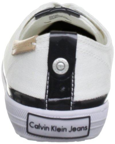 Bianca Jeans Rania Di Donne Modo Calvin Tela kbo Tennis Vernice Da Delle Delle Scarpe Klein FqBXSwcA
