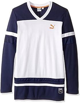 Camiseta de manga larga para hombre Bball, Peacoat, XX-Large