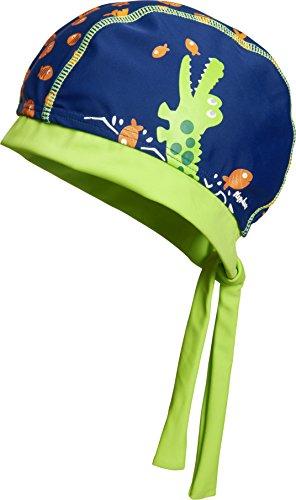 Playshoes Jungen Mütze UV-Schutz Kopftuch, Bademütze Krokodil Blau (Marine 11) 55