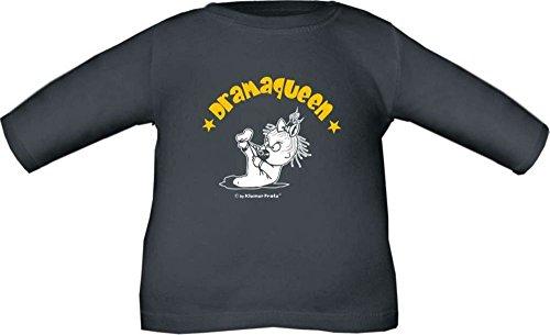 Baby / Kinder T-Shirt langarm Dramaqueen / Größe 60 - 152 in 6 Farben Rot