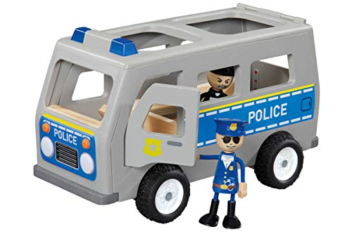 Playtive Junior Polizeiauto Holzspielzeug Auto 3-teilig