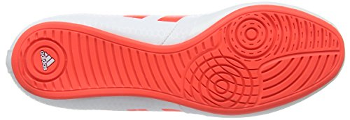 Adidas BB3733, Scarpe da Boxe Unisex Adulto Bianco (Bianco/Arancione)
