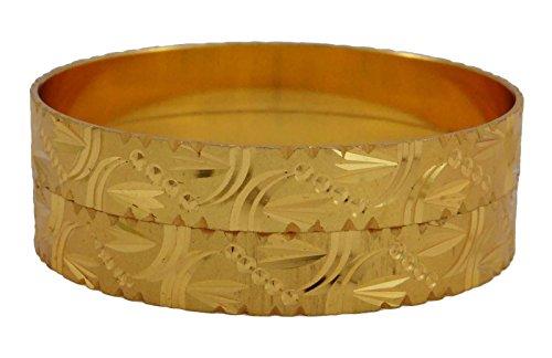 Banithani kada indiano braccialetto 18k etnica mettere oro gioielli tradizionali 2* 6, fede, colore: or-2, cod. bsg2398c