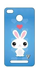 Vogueshell Rabbit Cartoon Printed Symmetry PRO Series Hard Back Case for Xiaomi Redmi 3S Prime