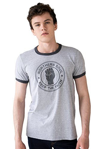 Northern Soul Ringer T-Shirt - Keep The Faith -