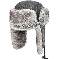 Zxcvb Moda Lei Feng Sombrero Hombre Invierno Cálido Sombrero de algodón Engrosamiento Más Sombrero Esponjoso Esquí al Aire Libre Orejeras para jóvenes (Color : Negro, tamaño : One Size)