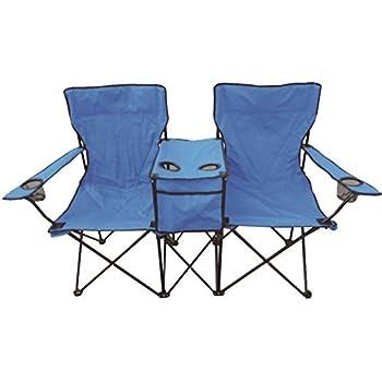 Duo Two Person Twin Double Folding Camping Deck Chair Outdoor Fishing  Picnic Beach Garden Patio Foldable