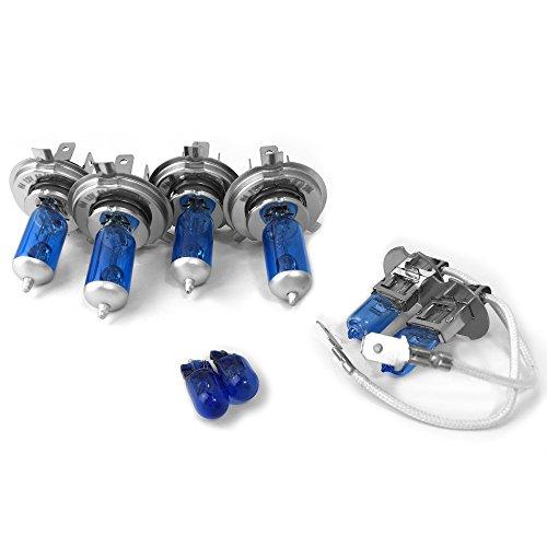 Preisvergleich Produktbild Low High Nebel Xenon Lampen Scheinwerfer 501H4H4H3-Set für # daelan97–05501–2x h4-h3_ dLAN