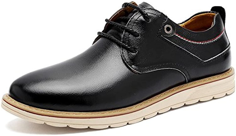 Zapatos para hombres Zapatos formales de cuero Comfort Oxfords Con cordones para boda Casual Oficina y carrera... -