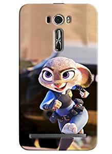 Clarks Cop Cartoon Hard Plastic Printed Back Cover/Case For Asus Zenfone 2 (ZE601KL)