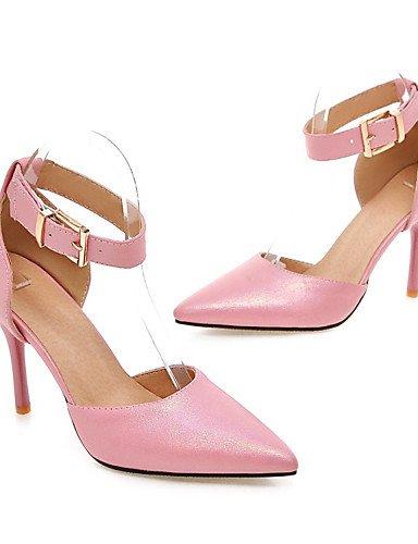WSS 2016 Chaussures Femme-Bureau & Travail / Habillé / Soirée & Evénement-Noir / Bleu / Rose / Beige-Talon Aiguille-Talons / Bout Pointu-Talons- pink-us5 / eu35 / uk3 / cn34