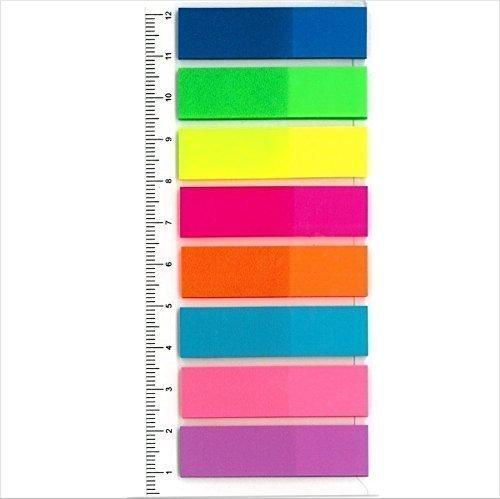 Film-Pagemarker Haftmarker - 200 Stück (8 Streifen mit je 25 Blatt) zum Beschriften / Markieren