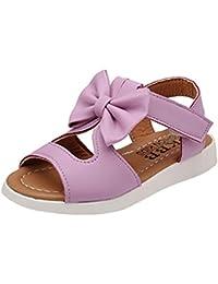 Sandalias Niñas Verano Velcro Playa Ofertas Bebé Zapatillas de Casa Pajarita Antideslizantes Elegantes
