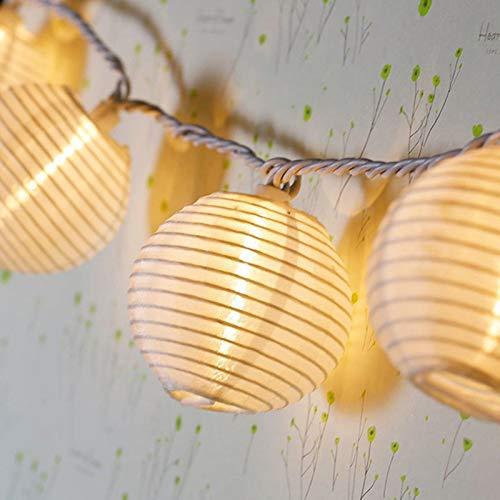 Solar-top (Top Fashion18 LED Solar Lichterkette Lampions Wasserdicht 20er LED Lampions Laterne Lichterkette Garten Innen und Außenbereich 5 M für Party Weihnachten. Warmweiß)