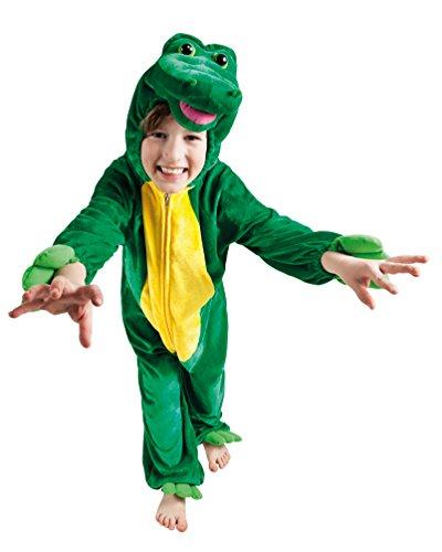 Karneval-Klamotten Kostüm Krokodil Kinder aus Plüsch Krokodil Kinder-Kostüm Krokodil-Overall Karneval Tier-Kostüm Kinder-Kostüm Größe 140