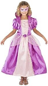 CARITAN disfraz princesa Venecia Carnaval-Disfraz con máscara en Deluxe, para niños (8-10años)