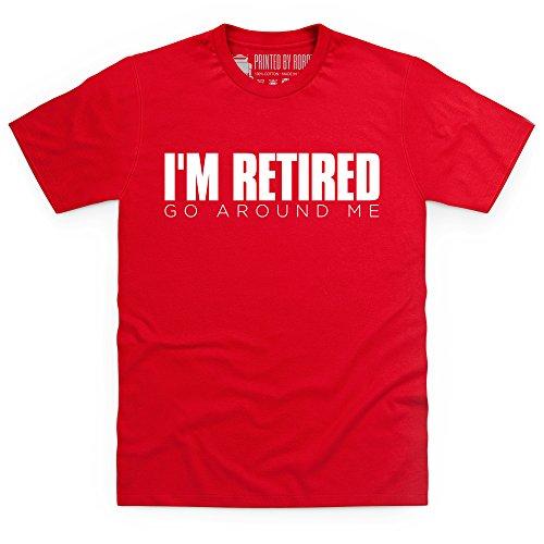 I'm Retired T-Shirt, Herren Rot