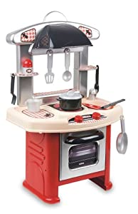 Coloma 90544-30 Cook Cocina con accesorios - Cocina de plástico con 11 accesorios (40 x 26 x 63,5 cm), color rojo y blanco importado de Alemania