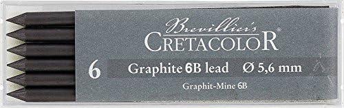 Cretacolor Artists' Graphite Leads 6B (Set of 6)