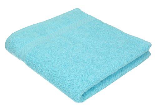 BETZ Serviette de Bain Taille 70 x 140 cm 100% Coton Palermo Rose Turquoise Vert Abricot ou Gris Anthracite Couleur Turquoise