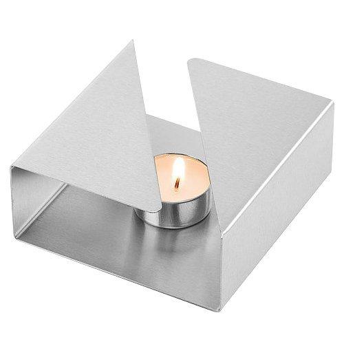 Weis Rechaud, Edelstahl, Silber, 12.5 x 12.5 x 4.5 cm