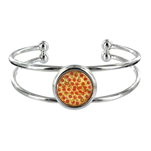 pepperoni-pizza-silver-plated-bangle-in-organza-gift-bag