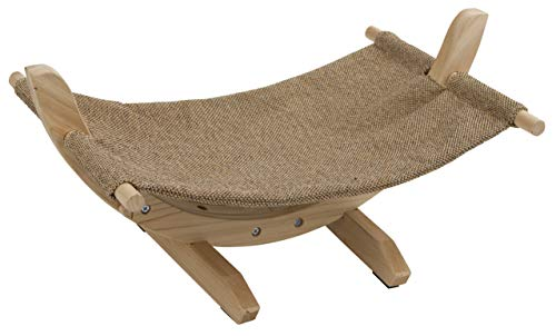 Kerbl 81559 Hammock Siesta 2.0 with Wooden Structure, 61 x 37 x 29 cm, Brown color