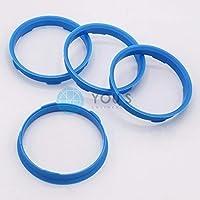 4/X Anello Di Centraggio in plastica 66.6/mm su 56.6/mm azzurro