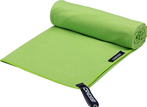 Cressi Microfibre Fast Drying Beach Towel Toalla de Sport, Unisex Adulto, Verde, 90x180cm