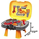 D&K Kids Tool Set , Construction Toys For Pretend Play-34 PCS Of Repair Accessories & Tool Box For Boys And Girls